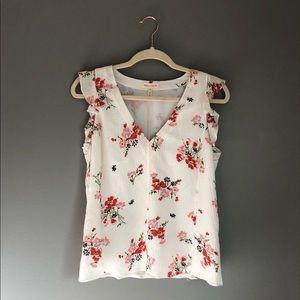 Rebecca Taylor Sleeveless Margurite Floral Top